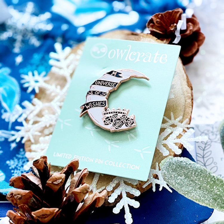 Winter Wishes exclusive enamel moon pin