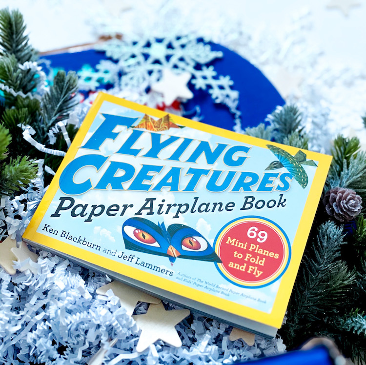 OwlCrate Jr. December 2020 paper airplane book