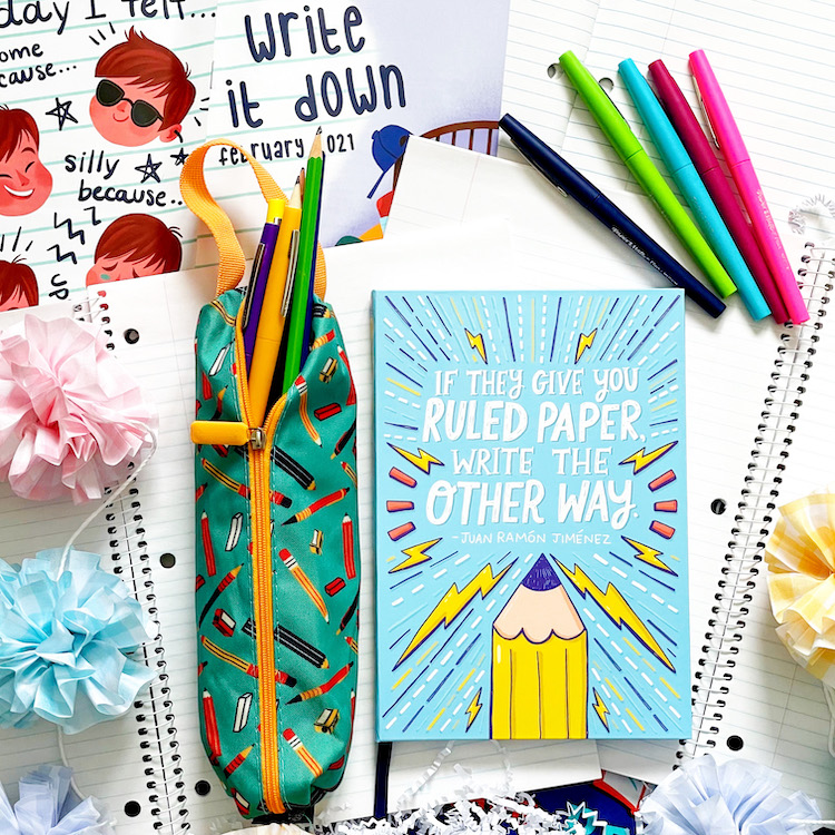 OwlCrate Jr.'s Notebook and Pencil Case
