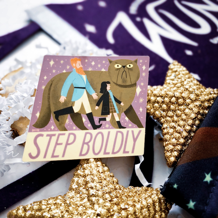 OwlCrate Jr. Nevermoor Step Boldly sticker