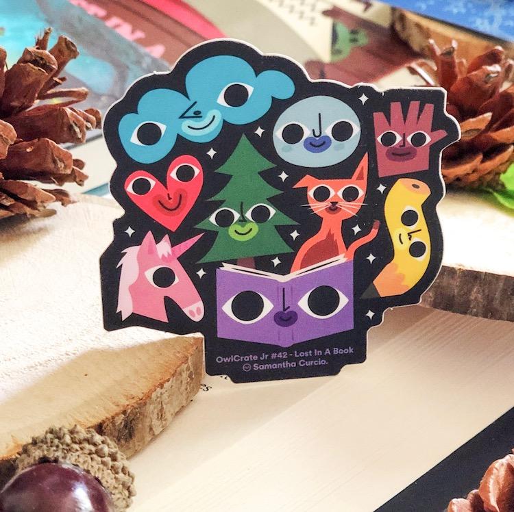 OwlCrate Jr. July 2020 sticker