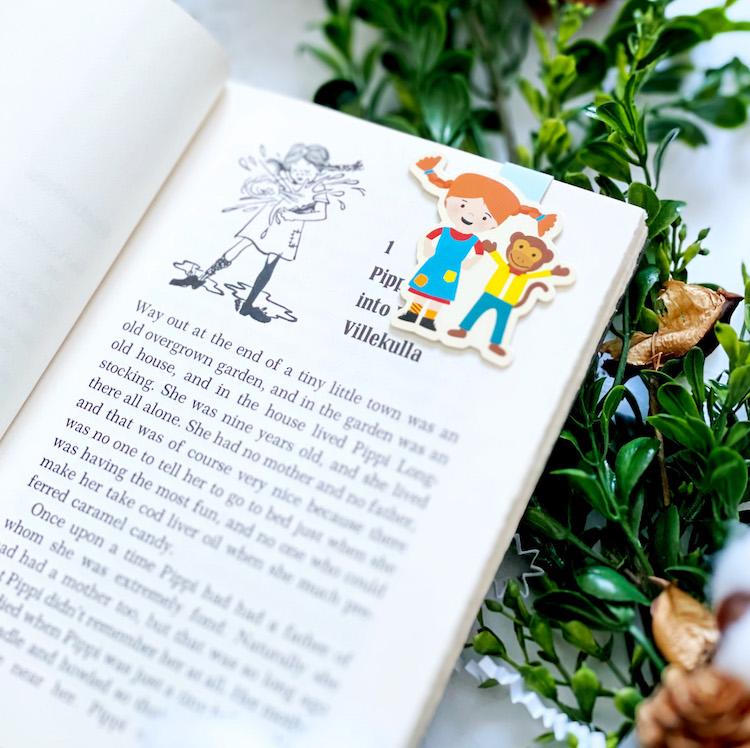 Craftedvan Pippi Longstocking bookmarks