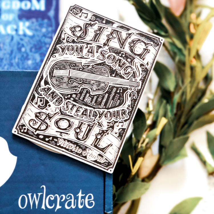 OwlCrate March 2020 Schwab sign