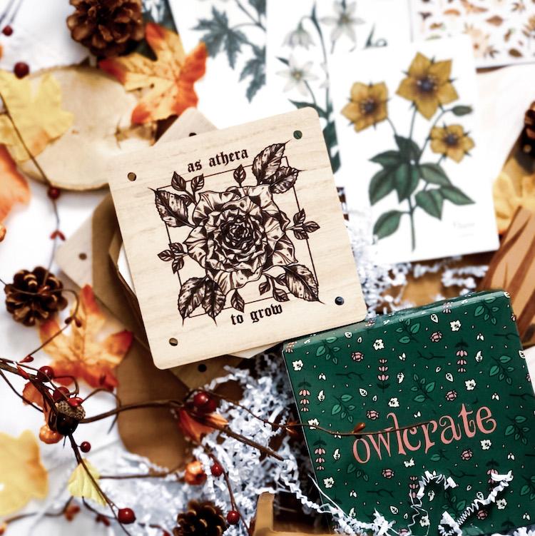 OwlCrate November 2020 Flower Press