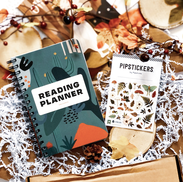 OwlCrate November 2020 Reading Planner Pipsticks