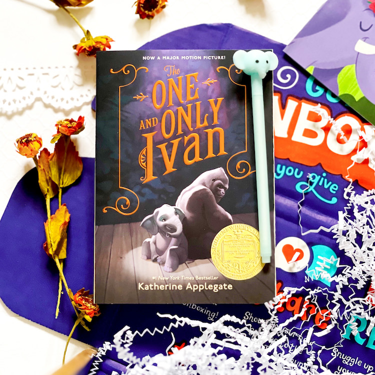 OwlCrate Jr. March 2021 The One and Only Ivan book