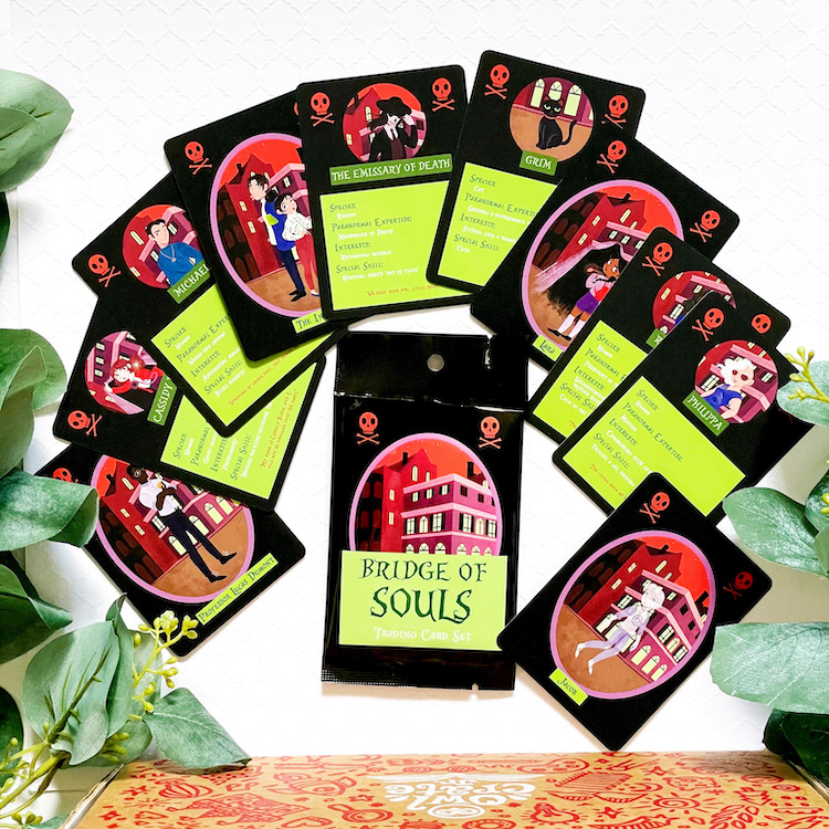 OwlCrate Jr. Bridge of Souls trading cards