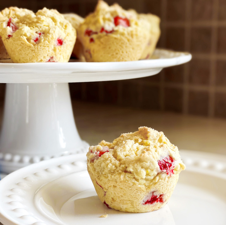 Lemon Strawberry Muffins