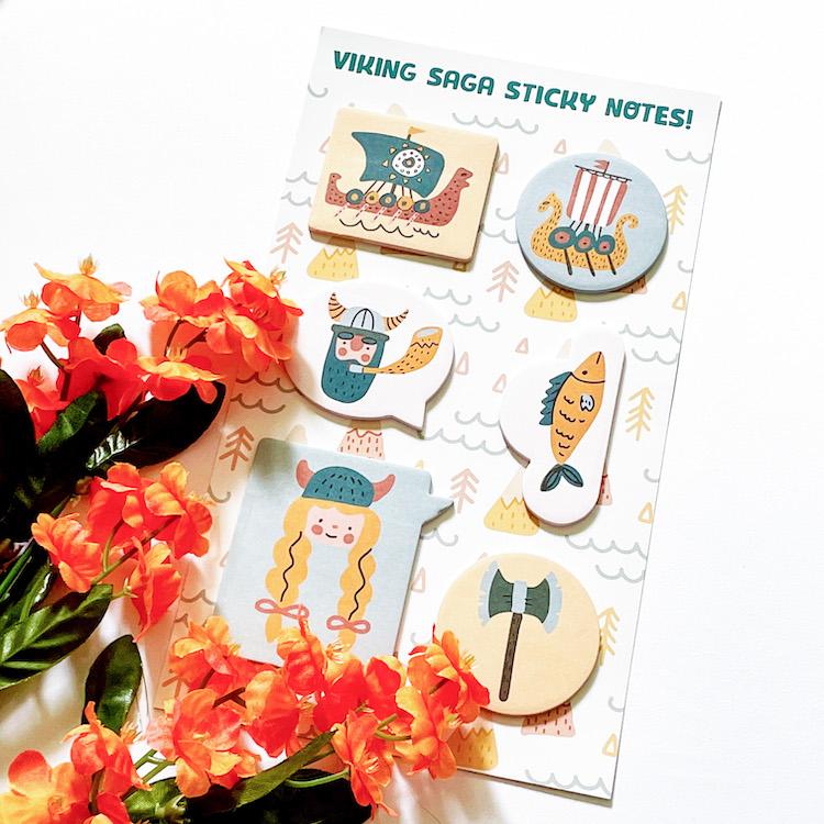 OwlCrate Jr. Viking sticky notes