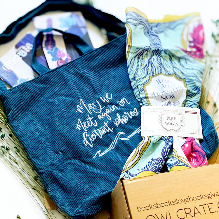 OwlCrate May 2021 Bag & Scarf